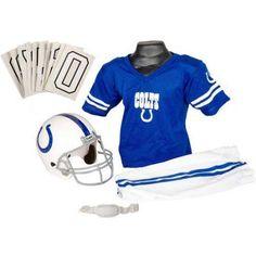 Franklin Sports NFL Deluxe Uniform Set, Size: Medium, Blue/Beige