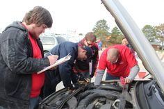 Vehicle check at Car Care Event. Find one in your area with our event finder!