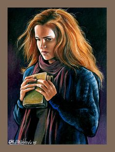 Original ACEO Hermione Granger Harry Potter Hogwarts Emma Watson by M. Mishkova