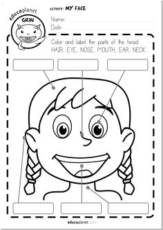 Parts Of The Face Worksheet Printable Free Espanol English – Free Worksheets Samples English Activities For Kids, English Grammar For Kids, Learning English For Kids, English Worksheets For Kids, English Lessons For Kids, Kids English, Teaching English, Spanish Worksheets, Spanish Lessons