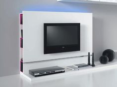 Italian Plasma TV Stand, Inbuilt DVD Storage, White or Black  - Make a real show of your TV with this fabulous surround, stand and storage combo