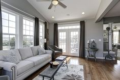 Lovely sitting area with bird cage decor at the Dartmouth II at Sheridan Estates by Dan Ryan Builders. Home Style Ideas