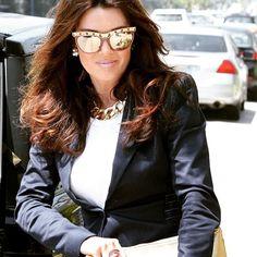 Lisa Vanderpump in Sama Cara Sunglasses with 24K Lenses