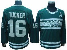 Toronto Maple Leafs 16 Darcy TUCKER CCM Green Jersey