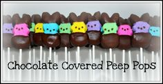 Tutorial: Chocolate Covered Peep Pops!