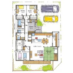 Study Space, Japanese House, House Layouts, Dorm Room, Interior And Exterior, House Plans, Floor Plans, Flooring, How To Plan