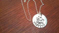 handstamped faith hope charity necklace by ByalittlebitofFaith, $22.00