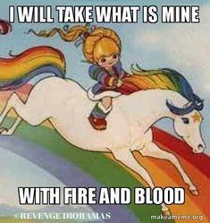 This Game Of Thrones Meets Rainbow Brite Mashup Is Everything #refinery29  http://www.refinery29.com/2016/04/108345/rainbow-khaleesi