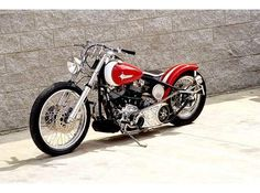 1980 ShovelHead Harley Davidson Custom Wide Glide with Goosed Out Neck and Belt Primary