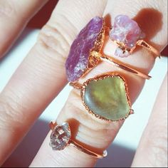 Playing with rings while working on a custom order... all 4 available in the shop!