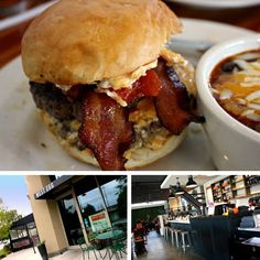 West Egg Cafe's PB Burger with pimento cheese, bacon and tomato jam
