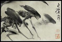 Ink-wash Alien