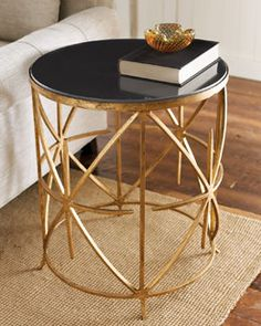 H40MW Granite-Top Side Table by horchow