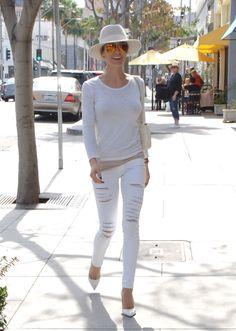 kristin cavallari frame denim ripped white jeans