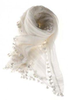 White scarf Matta