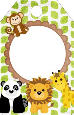 BANDEIROLA 2 - Minus Jungle Theme Parties, Safari Birthday Party, Jungle Party, Safari Theme, Baby Bug, Jungle Animals, Animal Party, Baby Boy Shower, Creations