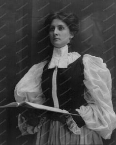 Victorian Lady Standing In Choir Robe 8x10 Reprint Of Old Photo