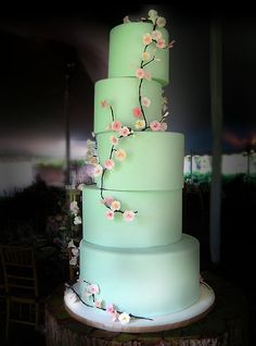 Mint w/ blossoms - from Charm City. i love that they are 3D off the cake. So sweet.