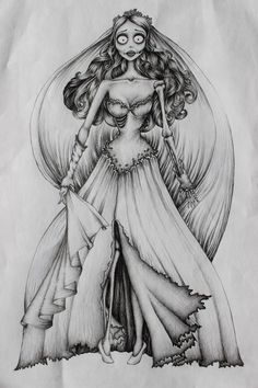 Corpse Bride Tattoo Design on The Loop