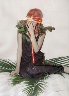 Kinga Rajzak by Viviane Sassen for Pop Fall/Winter 2009