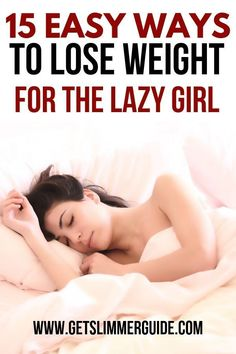 15 Lazy Ways to Lose Weight for Women – An Easy Weight Loss Guide! Feeling lazy and looking for easy ways to lose weight fast? Here are 15 lazy girl tips for quick weight loss to help you drop those pounds, look great and improve your health. Weight Loss Meals, Quick Weight Loss Tips, Diet Plans To Lose Weight, Losing Weight Tips, Loose Weight, Fast Weight Loss, Weight Loss Program, How To Lose Weight Fast, Weight Gain