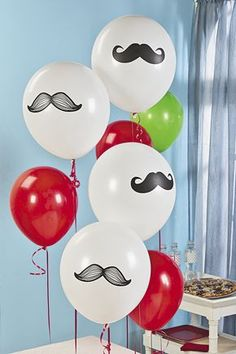With each balloon featuring a manly mustache, these latex balloons are quite the dapper party decoration, indeed.