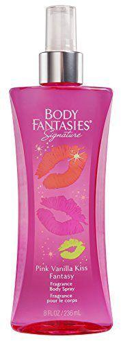 Body Fantasies Signature Fragrance Body Spray, Pink Vanilla Kiss Fantasy, 8 Fluid Ounce - http://www.theperfume.org/body-fantasies-signature-fragrance-body-spray-pink-vanilla-kiss-fantasy-8-fluid-ounce/