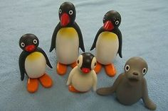 Pingu figure set (cake toppers)