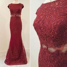 Une robe scintillante rouge cerise type 2 pièces dernière tendance 505b161beaa