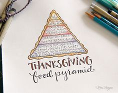 Love this... the food pyramid sort of looks like a pie piece too... :)