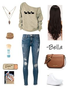 Walk in the Park by xxfashionluverxx on Polyvore featuring Frame Denim, Converse, MICHAEL Michael Kors, Chan Luu, LeSalon and Maybelline
