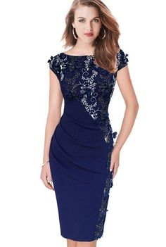 online shopping for VfEmage Womens Elegant Embroidery Ruched Party Evening Bodycon Dress from top store. See new offer for VfEmage Womens Elegant Embroidery Ruched Party Evening Bodycon Dress Women's Dresses, Plus Size Dresses, Women's Fashion Dresses, Elegant Dresses, Dresses Online, Dressy Dresses, Bodycon Outfits, Bodycon Dress Parties, Party Dress