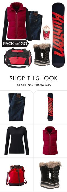 """""""•Snowboarding•"""" by fashion-diva-4ever ❤ liked on Polyvore featuring DL1961 Premium Denim, Burton, Jigsaw, Lands' End, SOREL and Preferred Nation"""