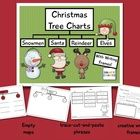 Get your littles ones thinking, classifying and writing with these Christmas tree charts. For each topic (elves, Santa, reindeer, snowmen), you'l...