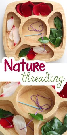 Nature Threading Fine motor work for preschoolers using nature finds! – Roel Van Nature Threading Fine motor work for preschoolers using nature finds! Fall Preschool Activities, Nature Activities, Montessori Activities, Motor Activities, Preschool Crafts, Summer Activities, Outdoor Activities For Preschoolers, Outdoor Toddler Activities, Reggio Emilia Preschool