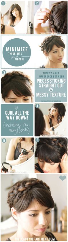 braiding with layers the beauty dept I have short layers so this really helps me