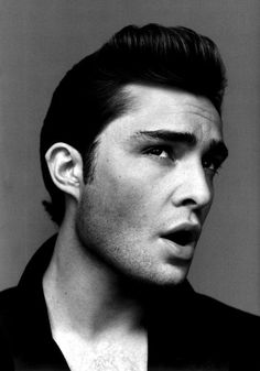 Ed Westwick. Heaven help me with that jawline. Love a boy who's only redeeming quality is how he loves.