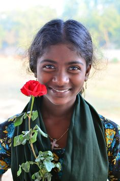 "500px / Photo ""Meena with a Rose"" by Jesse Dyer"