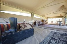 The Luxury Explorer Safari Tent offers guests wide sweeping vistas while enjoying all the creature comforts of five star luxury. Hammock Underquilt, Luxury Tents, Creature Comforts, Safari, Explore, Bed, Bespoke, Outdoor, Furniture
