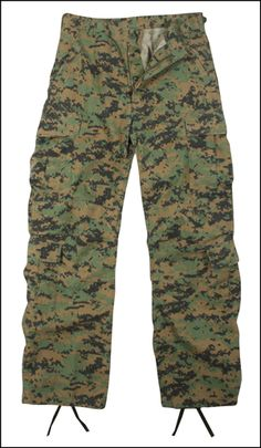 67455002ee Vintage Woodland Digital Camo Paratrooper Fatigues are made of a washed  cotton/poly twill durable. Fatigues Army Navy & Surplus Gear ...