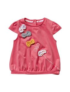 £4 Baby Girl's T-Shirt Pink / bows