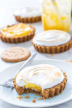 Crunchy, zesty and tangy Lemon Meringue Tarts with a big cloud of burnt marshmallow meringue. A perfect treat for an afternoon tea.