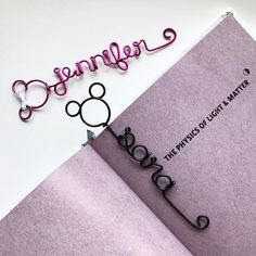 These Mickey and Minnie Mouse bookmarks are the perfect gift for the book and Disney lover you know! They come in a gift box ready for gifting. Personalized them with any name or word in your choice of 14 colors. Shop now at www.rlhcreations.com. #rlhcreations