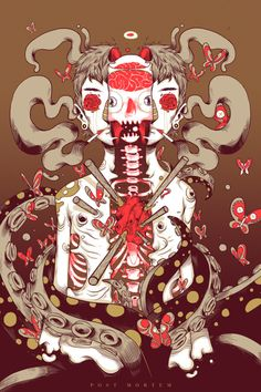 ghost in the machine - Colorful Illustrations by Raul Urias
