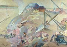 Martta Wendelin, maalaus 1930-luku.  Messuhallia rakennetaan. Martini, Fairytale, Painting, Fairy Tales, Painting Art, Paintings, Paint, Fairytail, Draw
