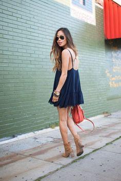 #Navy #Sundress #StreetStyle #Summer #Beach #Style #Fashion #BiographyInspiration