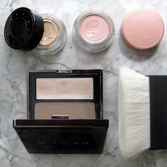 Becca cosmetics. Go from day to night with 3 simple steps: brighten, perfect and define. (shown: Ultimate Coverage Concealing Crème, Under Eye Brightening Corrector, The One Perfecting Brush and Lowlight/Highlight Perfecting Palette Pressed.)