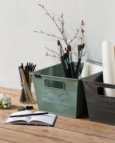 In need of some storage possibilities? Metal boxes in stores now. Price DKK 6800 / SEK 9400 / NOK 9800 / EUR 953 / ISK 1859 / GBP 7.84  #metalbox #desk #storage #office #workspace #inspiration #sostrenegrene #søstrenegrene #grenehome