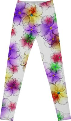 CANDY FLOWERS COTTON LEGGINGS