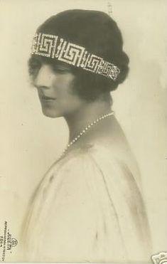 Kronprinzessin Helene von Rumänien, née Princess of Romania Royal Crown Jewels, Royal Crowns, King George I, Queen Sophia, Victoria, Kaiser, Portraits, Denmark, Retro Fashion